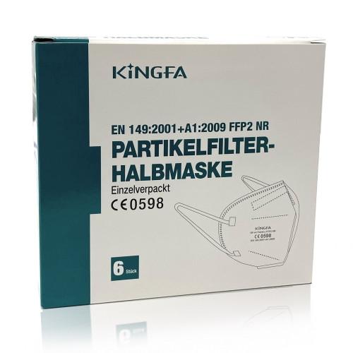 Pack of 6 KINGFA FFP2 masks (CE 0598)